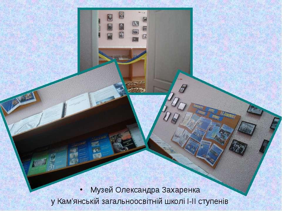 Музей Олександра Захаренка у Кам'янській загальноосвітній школі І-ІІ ступенів