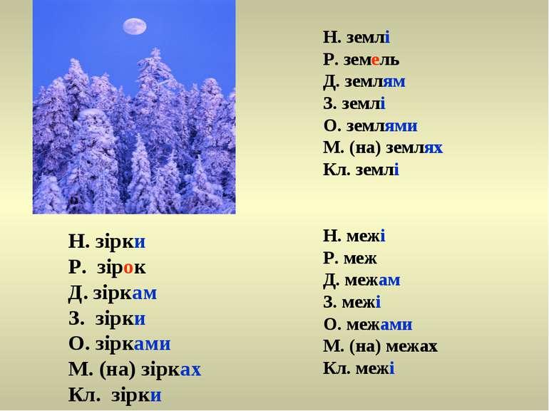 Н. зірки Р. зірок Д. зіркам З. зірки О. зірками М. (на) зірках Кл. зірки Н. з...