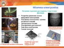 Фізична електроніка Напрями наукових досліджень і підготовки фахівців: Розроб...