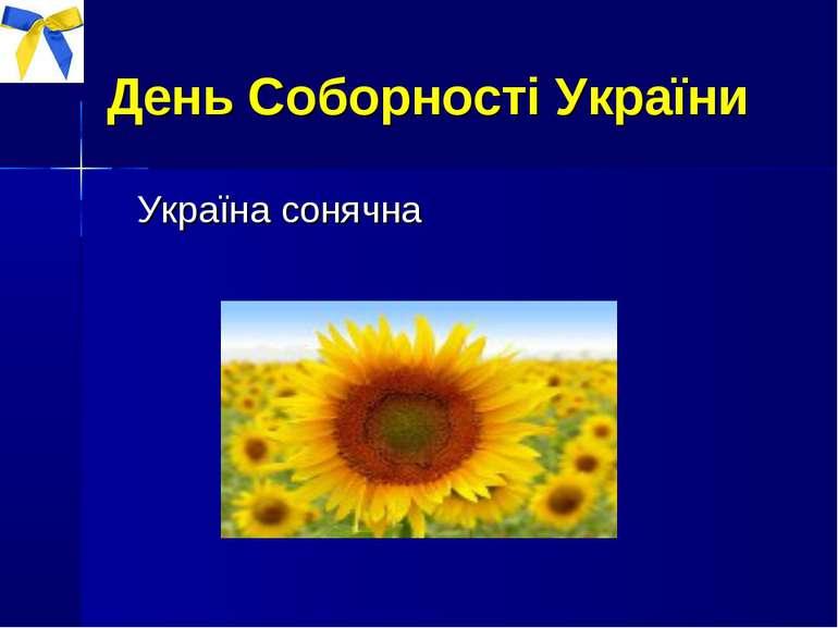 День Соборності України Україна сонячна