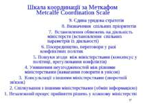 * Шкала координації за Меткафом Metcalfe Coordination Scale 9. Єдина урядова ...