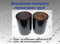 Внутрішня поверхня прокатаних труб 1 2 1 – труба, що прокатана з мастилом ВТС...