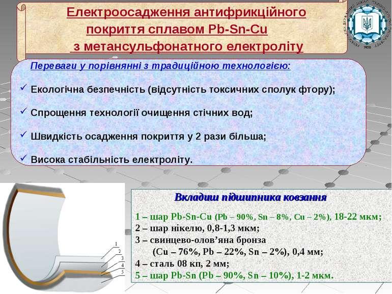Переваги у порівнянні з традиційною технологією: Екологічна безпечність (відс...