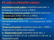 Не надали відповідні накази: Барвінківський район (передача комп.тех. з Котов...