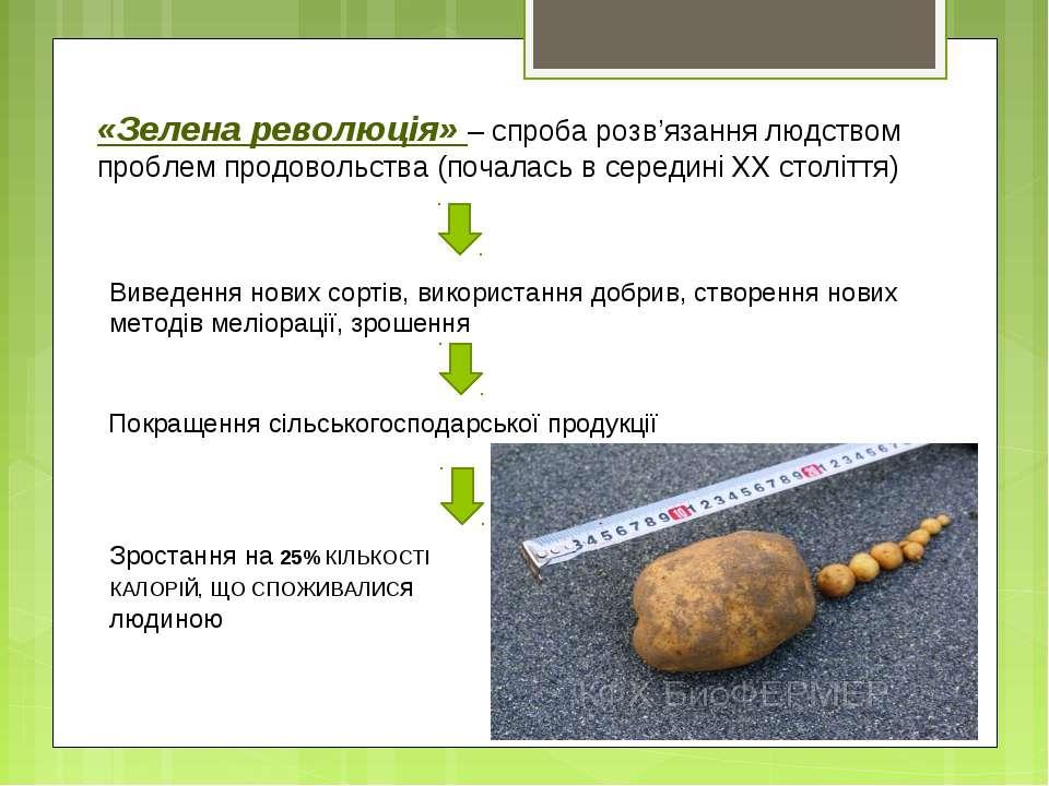 «Зелена революція» – спроба розв'язання людством проблем продовольства (почал...