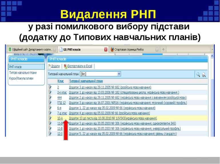 Видалення РНП у разі помилкового вибору підстави (додатку до Типових навчальн...