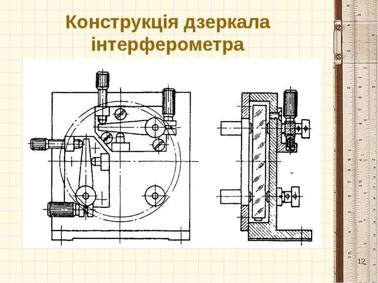 Конструкція дзеркала інтерферометра *