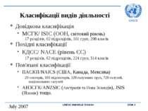 Класифікації видів діяльності Довідкова класифікація МСГК/ ISIC (ООН, світови...