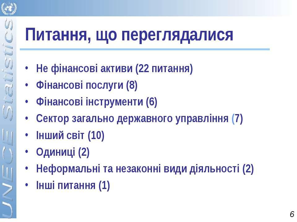 Питання, що переглядалися Не фінансові активи (22 питання) Фінансові послуги ...