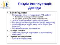 Розділ експлуатації: Доходи Фактичні доходи: Різні доходи: плата за продаж во...