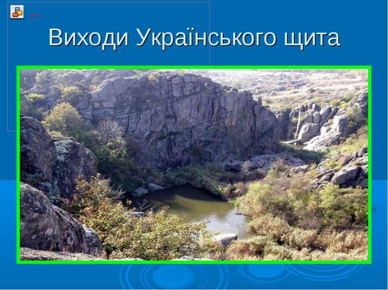 Виходи Українського щита