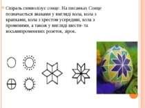 Спіраль символізує сонце. На писанках Сонце позначається знаками у вигляді ко...